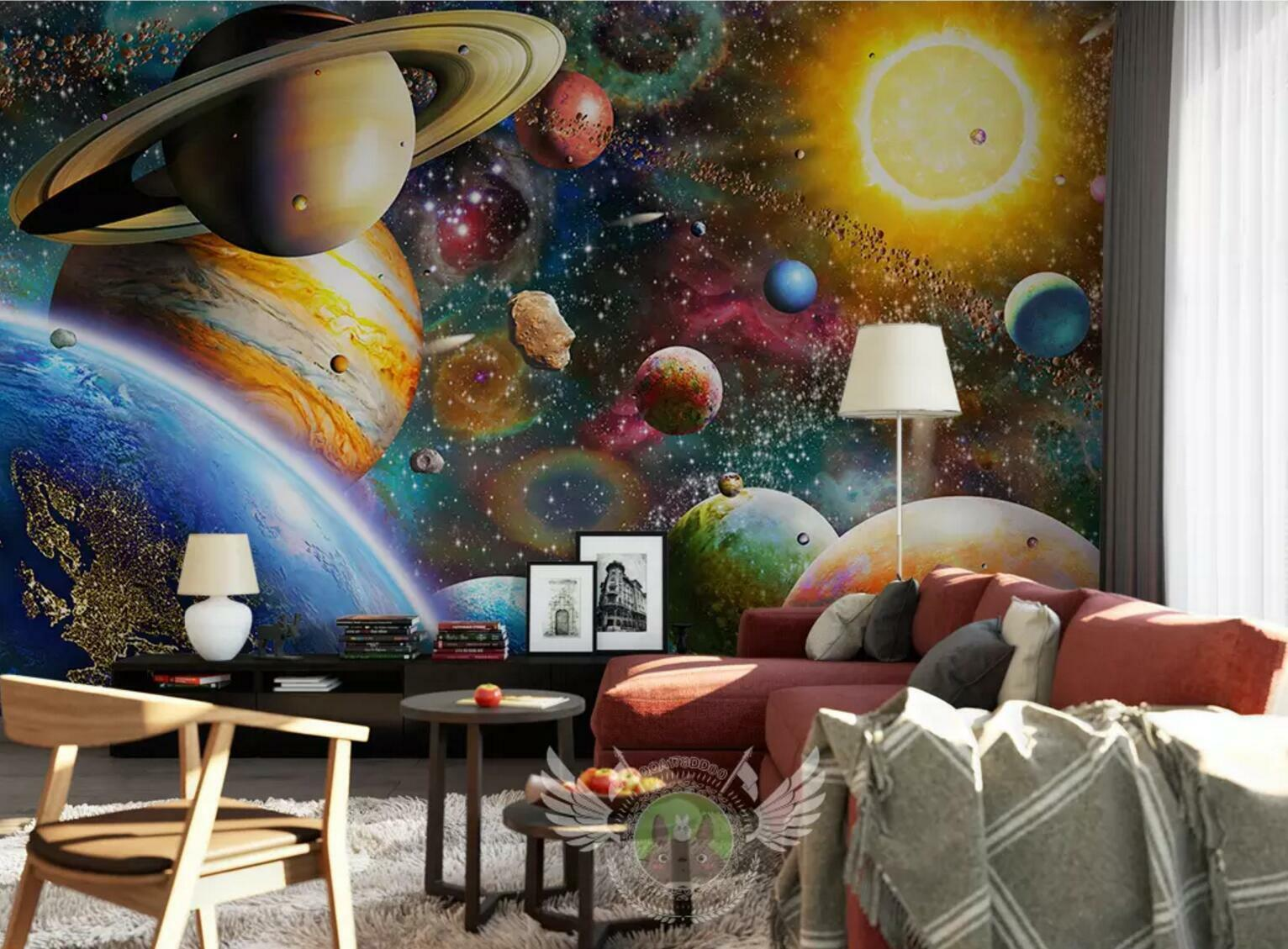 3D Planet Space 84 Wall Paper Exclusive MXY Wallpaper Mural Decal Indoor Wall AJ