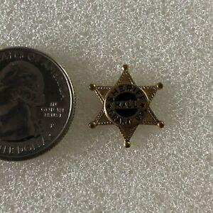 Grant County Sheriff Hall Vintage Mini Star Badge Pin Pinback #37092