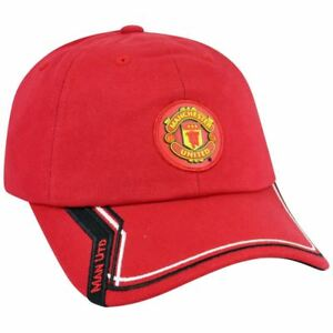 Manchester-United-English-Premier-League-Clip-Buckle-Rhinox-Hat-Cap-Soccer-Red