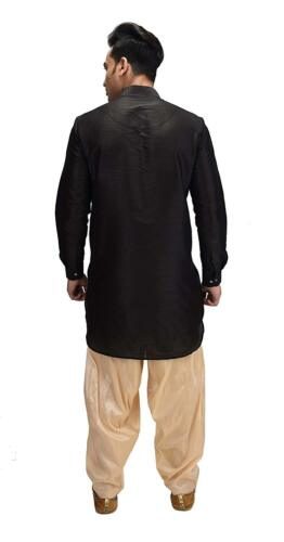 Hommes Mariage Salwar Kurta doupion soie Plain Kurta traditionnel Festive Indian Wear