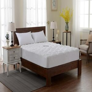 Extra Plush Bamboo Fitted Mattress Pad Topper Cherry Hill