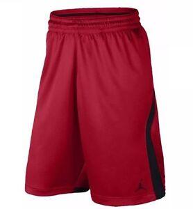 dbaad8272efbb0 Air Jordan Mens Flight Knit Dri-Fit Basketball Shorts Red Black New ...