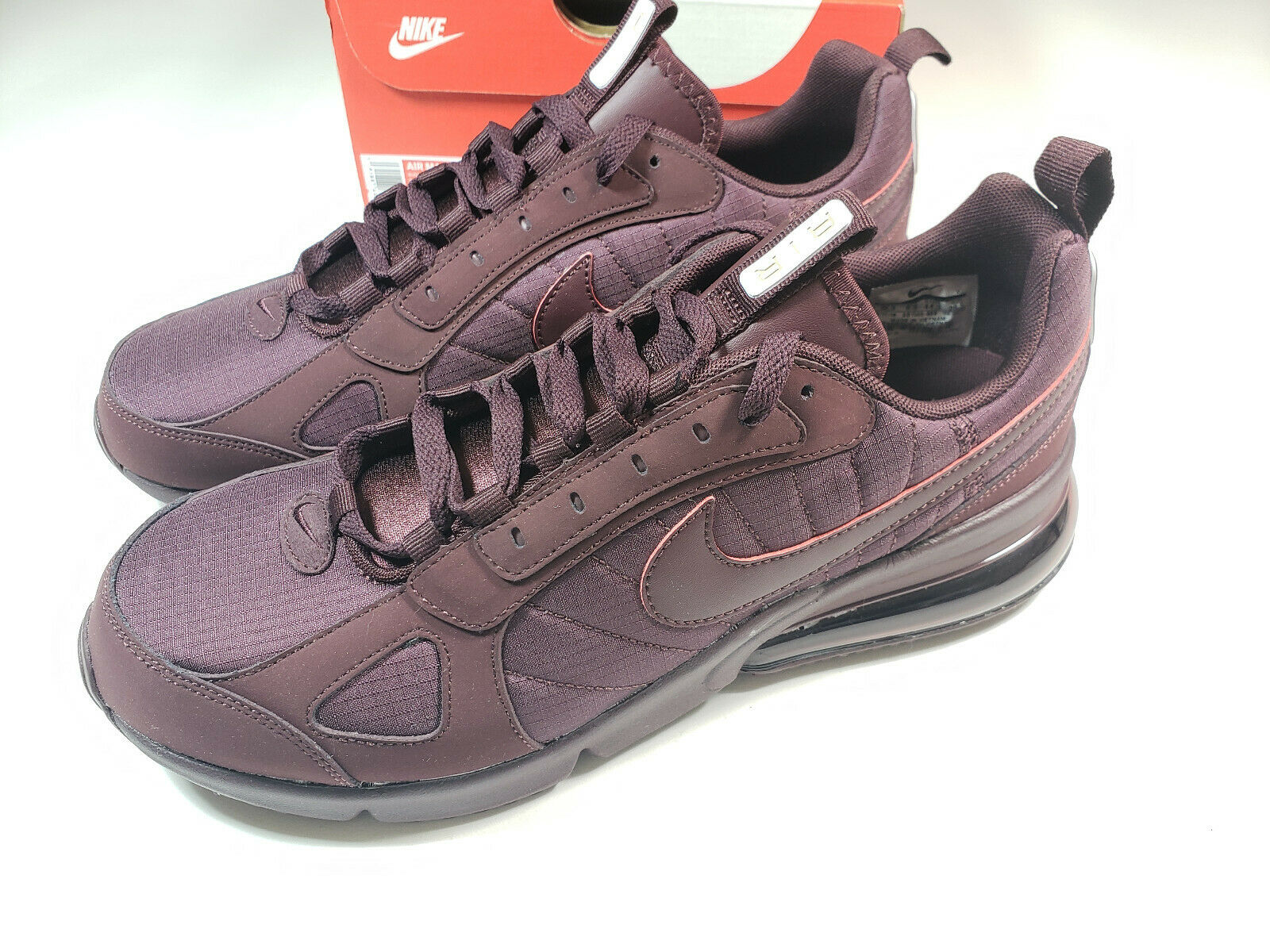 Nike Air Max 270 Futura Burgundy Running shoes Big Bubble AO1569-600 Sz 10.5 Men