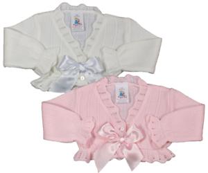 Baby girl cardigan bolero BOW Spanish style