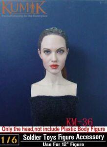 "DSTOYS D-OO1A 1:6 Girl Head Sculpt Fit 12/"" Female PH TBL UD JO Figure Body Toys"