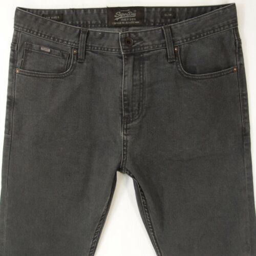 Mens SuperDry LOW RIDER Stretch SLIM Grey Jeans W3