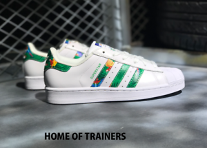 Details about adidas Superstar Aloha Green White BY2274 Women's Trainers All Sizes-SALE