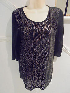 LADIES-SUSSAN-SIZE-S-12-BLACK-SHORT-DRESS-OR-LONG-TOP-039-PERFECT-039