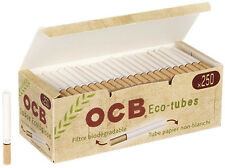 1000 (4x250) OCB ® organic eco-tubes (casquillos, filterhülsen, zigarettenhülsen)