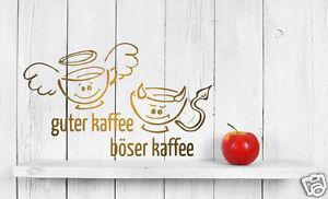 wandtattoo k che cafe coffee guter kaffee b ser wandaufkleber cafee neu k149 ebay. Black Bedroom Furniture Sets. Home Design Ideas