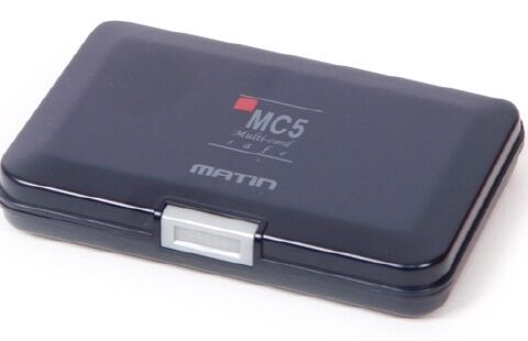 Nuevo Matin tarjeta de memoria y batería seguro caso Azul Marino Oscuro Para Aa Aaa Pilas