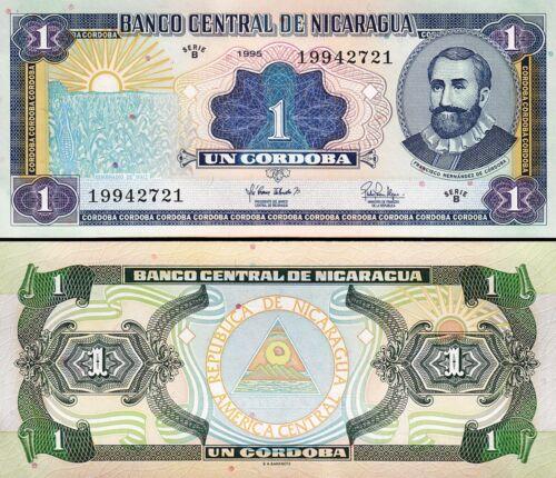 Nicaragua 1 Cordoba 1995 Unc Serie B P 179