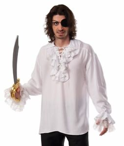 Ruffled Pirate Shirt Plus Size Xl Renaissance Gothic Colonial