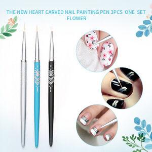 Eg-3-Pezzi-Nail-Art-Pennelli-Acrilico-Gel-UV-Painting-Disegno-Penna-Liner
