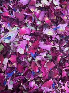 Natural-Biodegradable-Wedding-Confetti-Real-Dried-Flower-Petals-Red-Pink-Rose-1L