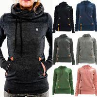 Hot Women Long sleeve Hoodie Sweatshirt Jumper Pullover Top Coat Winter S-XXL