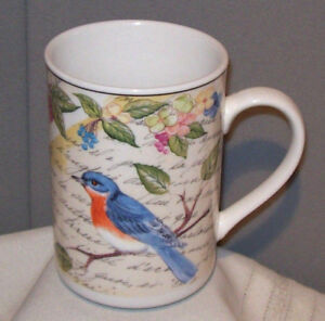 American-Atelier-at-Home-MORNING-SONG-Bluebird-5071-Porcelain-Mug