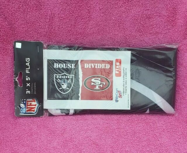 Oakland Raiders and San Francisco 49ers Divided Flag 3x5ft