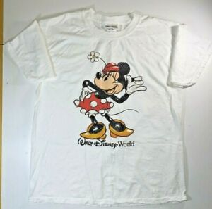 Official-Disney-World-Minnie-Mouse-Sketch-T-Shirt-Large-White-Theme-Park