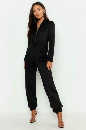 UK Womens Casual Loungewear Trousers Lounge Ladies Zip Fleece Jumpsuits Joggers