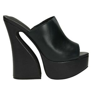 competitive price d20ee 76133 Dettagli su ORIGINALI JEFFREY CAMPBELL DAYANA Nere sandali Scarpe donna  tacchi JCS29JC098