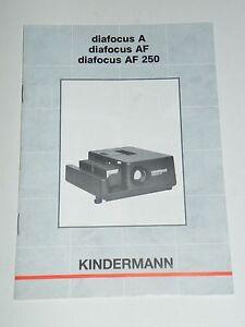 Originale-Bedienungsanleitung-manual-Kindermann-diafocus-A-AF-AF-250-Anleitung