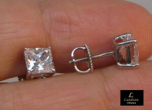 2-50-ct-Princess-Cut-Diamond-Stud-Earrings