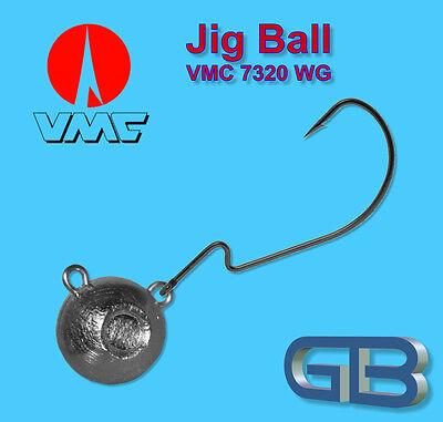 Meeresjig 25g Dorschbombe Jig Bleikopf VMC Drillinge aus Perma Steel Gr 2//0 .