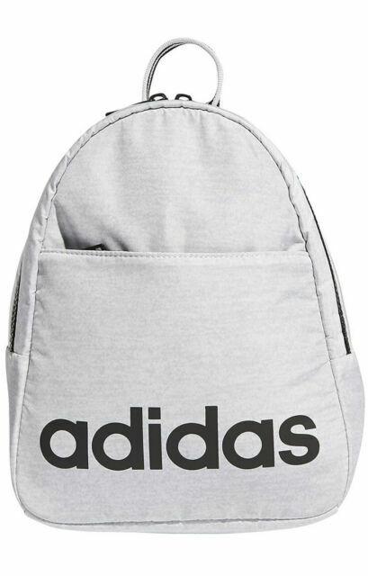 adidas 978026 Unisex Core Polyester Mini Backpack - White Jersey ...