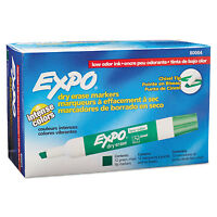 Expo Low Odor Dry Erase Marker Chisel Tip Green Dozen 80004 on sale