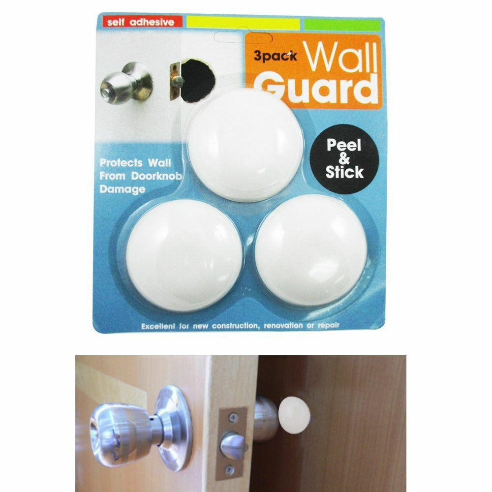 Livebycare 4 PCS Door Stop Stopper Bumper Doorstop Wall Protector Guard Shield Memory Material Rubber 3M Self Adhesive Durable Heavy Duty for Home Kitchen Black