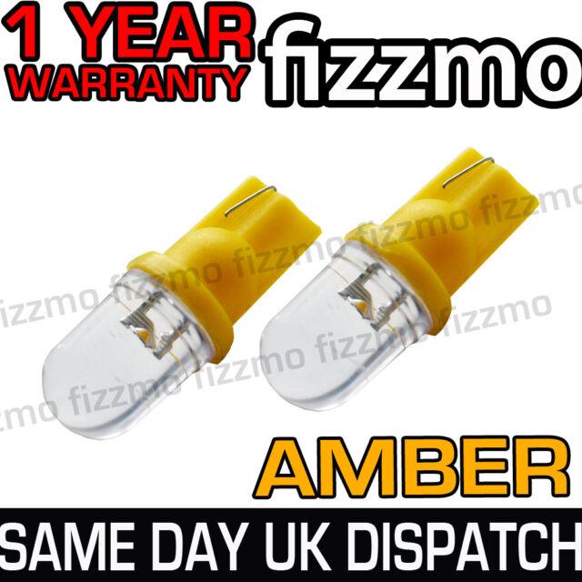 2x LED AMBER ORANGE INDICATOR SIGNAL TURNING SIDE LIGHT BULB T10 W5W 501 1YR WAR