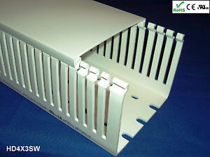 8 new 4 x3 x2m narrow finger open slot wiring duct cover white rh ebay com au open slot wiring raceway duct open slot wiring cable raceway duct with cover lid
