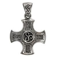 Sterling Silver Celtic Knot Harmony Cross Pendant Knotwork Iron Crossjewelry