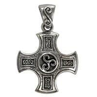 Sterling Silver Celtic Knot Harmony Cross Pendant Knotwork Iron Crossjewelry