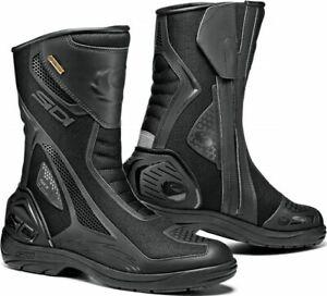 Sidi-Aria-Waterproof-Gore-Tex-Touring-Motorbike-Motorcycle-Mesh-Boots-Black