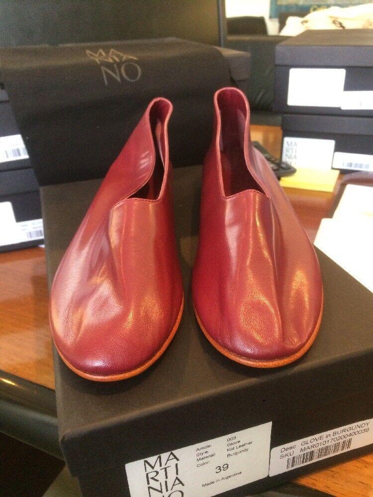 Matiniano Kid Cuir Plat Gant Chaussure en Bordeaux