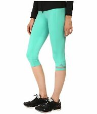82939a8f9459a1 adidas by Stella McCartney Women's L Athletic 3/4 Tights Shimmer Green  Turquoise