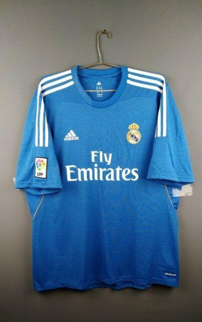 huge discount dd519 d7470 Real Madrid 2013 - 2014 Away Jersey adidas Original Blue S