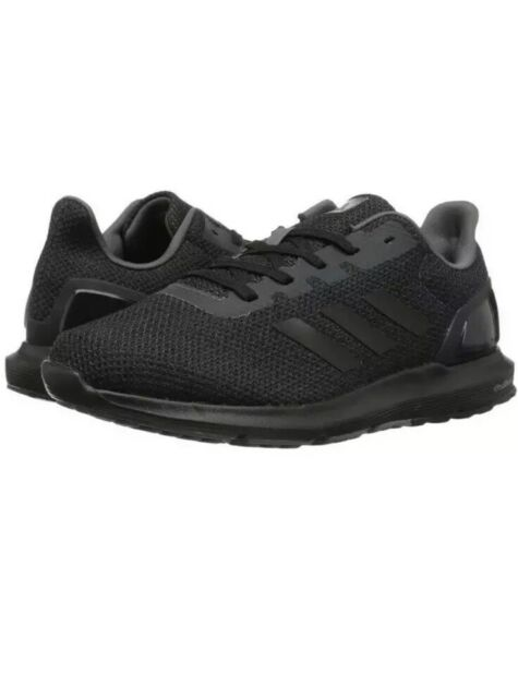 wholesale dealer 9779c 26fbc ADIDAS MENS Size 12 Cosmic 2 SL M All Black Grey CQ1711 Knit Running Shoes