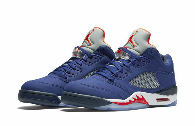 Nike Air Jordan 5 V Retro Low Knicks NY Royal Blue Orange Size 10. 819171-417