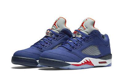 quite nice online for sale best place Nike Air Jordan 5 V Retro Low Knicks NY Royal Blue Orange Size 13.  819171-417   eBay