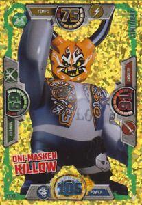 lego ninjago karten serie 3 - le18 - oni-masken killow - limitierte auflage | ebay