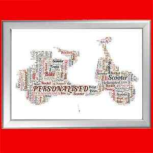 PERSONALISED-SCOOTER-WORD-ART-PRINT-GREAT-GIFT-FOR-ANY-ENTHUSIAST