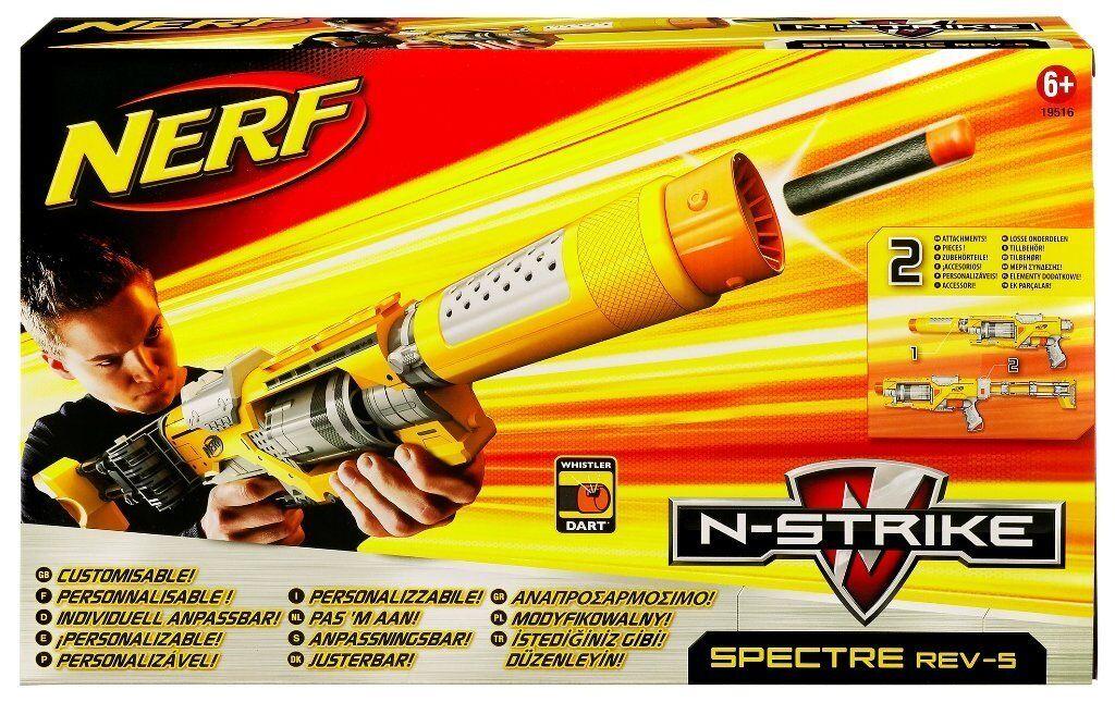 Nueva Marca Nerf N-strike Spectre REV-5 Dart Blaster Raro