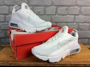 Nike-UK-5-EU-38-AIR-MAX-2090-BIANCO-GRIGIO-Scarpe-da-ginnastica-per-bambini-Donna-RRP-85-ad