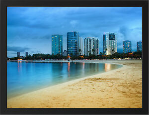 HAWAII-OAHU-NEW-A3-FRAMED-PHOTOGRAPHIC-PRINT-POSTER