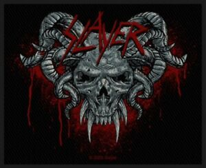 SLAYER-Demonic-Woven-Patch-Sew-On-Official-Band-Merch-Thrash-Metal-New