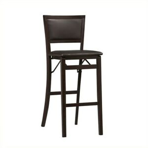 Strange Linon Keira Pad Back 30 In Folding Bar Stool Bralicious Painted Fabric Chair Ideas Braliciousco