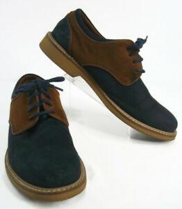 aldo men's shoes blue/brown two tone suede lace up casual